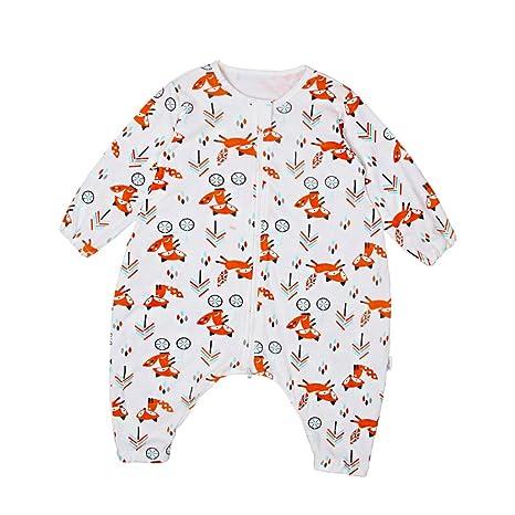 fenteer Niños Baby manga larga algodón Saco de dormir Zorro Talla:3-4T