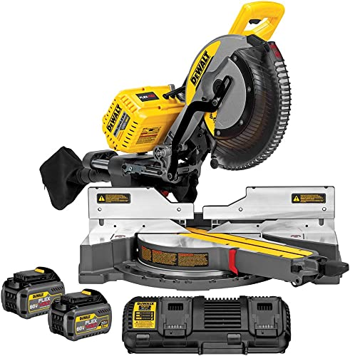DEWALT DHS790T2 FLEXVOLT 120V MAX Double Bevel Compound Sliding Miter Saw Kit