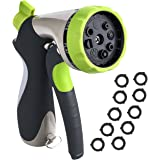 VicTsing Garden Hose Nozzle Spray Aluminum Nozzle Hand Sprayer with 8 Patterns Watering Nozzle&High Pressure / Pistol Grip Front Trigger - Suitable for Car Wash, Cleaning, Watering Lawn and Garden