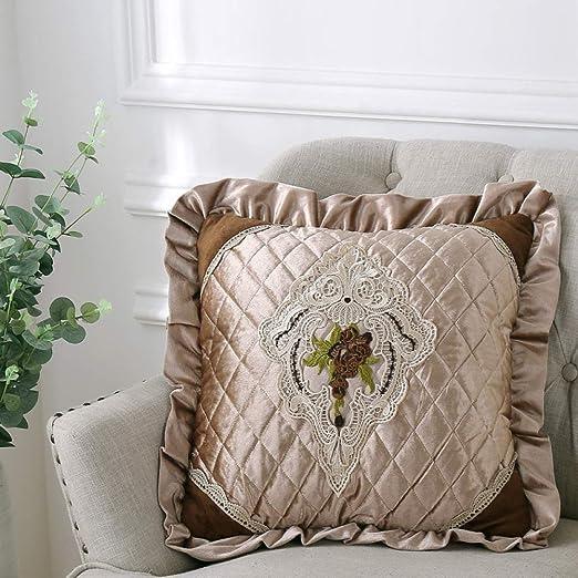 LIJIAYANG Tela Textil cojín de Encaje Almohada cojín de sofá ...