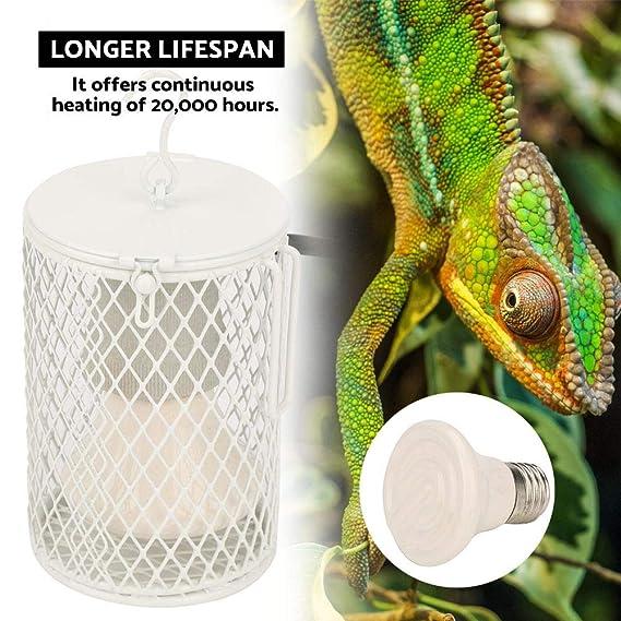 100W Luz de Calor Emisor de Cerámica Embrague Coop Reptil Mascota ...