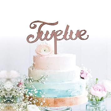 12 Anniversary Cake Topper Party Decoration Supplies Palasasa