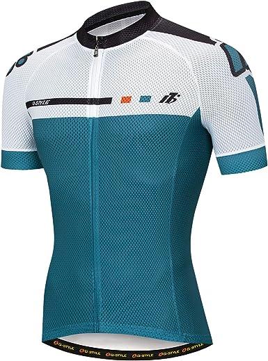 yuwell Jersey de Ciclismo Jesrey Jersey de Ciclismo Camisa de Ciclismo Tramo Corto de Secado rápido con protección UV