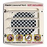 Dryer Vent Bird Guard -Dryer Vent Bird Stop - Dryer Vent Grill - Pest Guard - Stop Bird Nesting In Dryer Exhaust Vent Pipes - Louver Vent Hood Cover Guard - 2/pkg