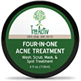 TreeActiv Four-in-One Acne Treatment | Wash, Scrub, Mask, and Spot Treatment | Heals Rosacea | Exfoliating Sugar | Face…