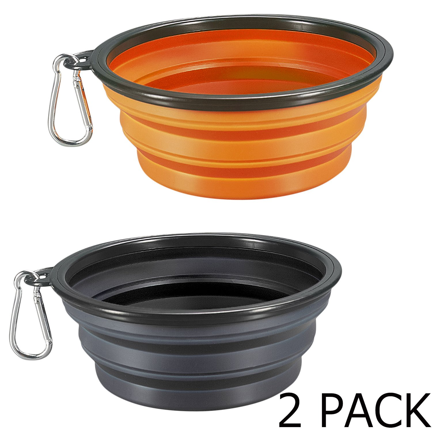 COMSUN Collapsible Dog Bowl Dog Travel Bowl Foldable Expandable Cup Dish for Pet Cat Food Water Feeding Portable Travel Bowl