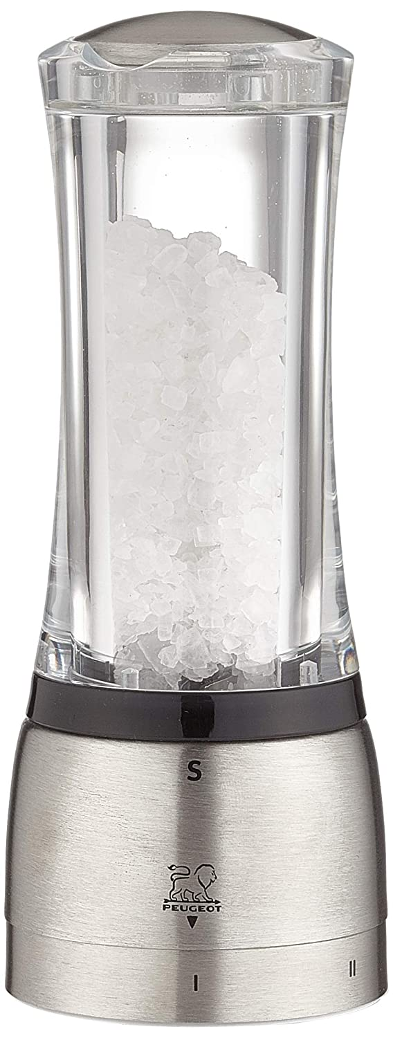 Acrylic and Stainless Steel Peugeot 25434 Daman uSelect Salt Mill 6.25 Inch