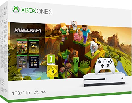 Xbox One S - Consola de 1 TB, color blanco + Minecraft Creators ...