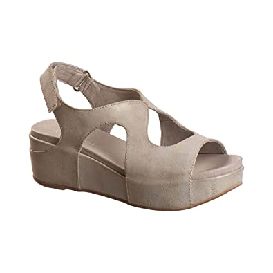 e45c9cbc668 Antelope Women s 404 Make Up Metallic Leather Low Cutout Sandals 36