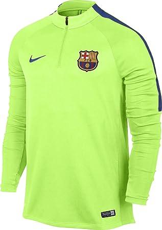 Nike FCB M Nk Sqd Dril Camiseta de Manga Larga FC Barcelona, Hombre, Verde