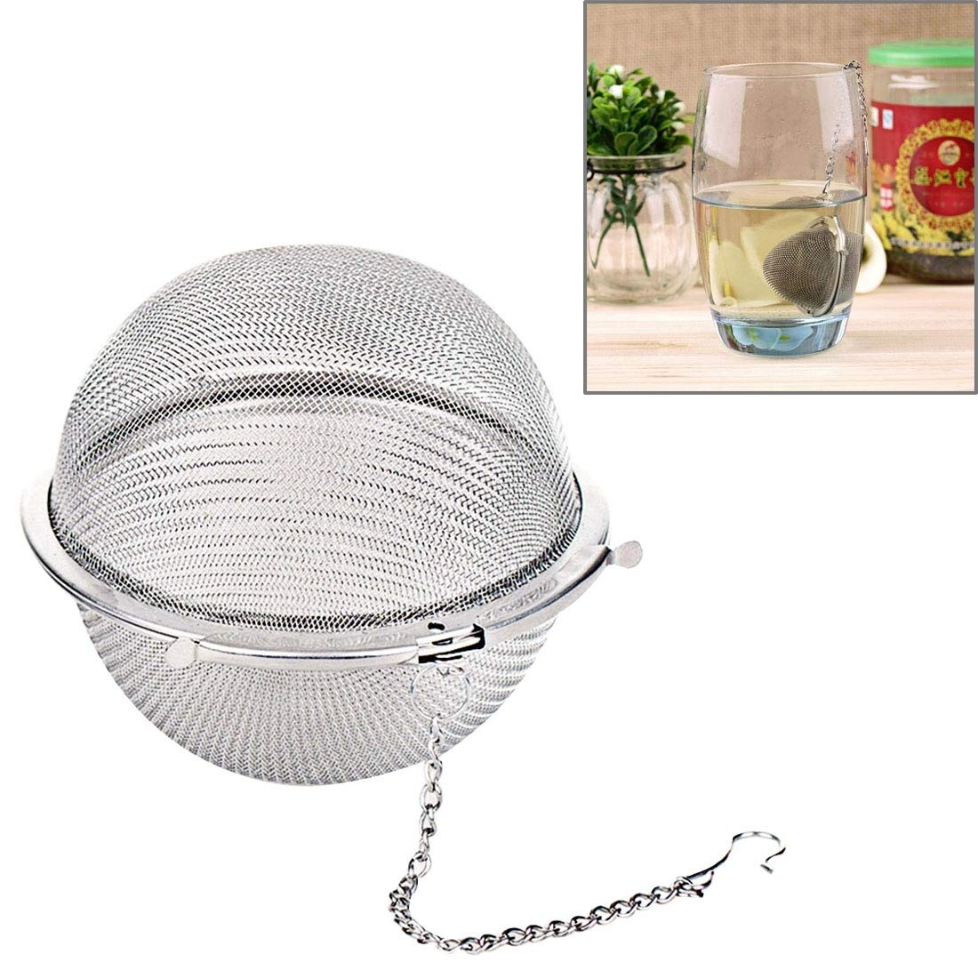 Ustensiles de cuisine Passoire à thé sphérique en acier inoxydable pour la filtration des débris Vie pratique