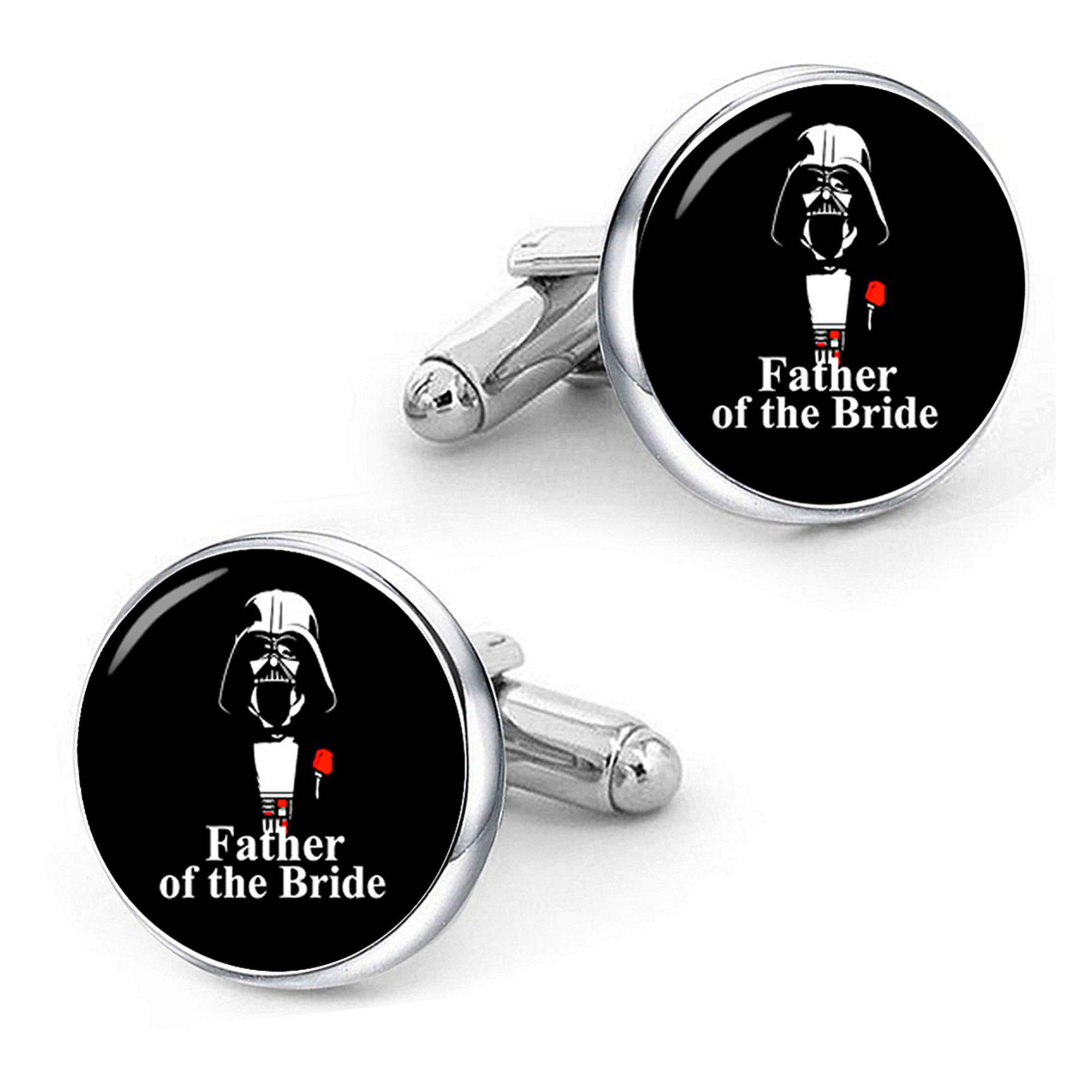 Kooer Father Of The Bride Cufflinks For Star Style Handmade Custom Personalized Wedding Cuff Links