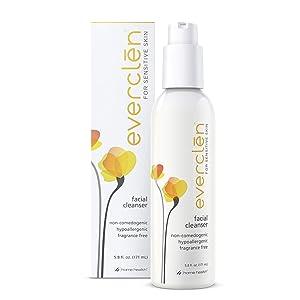 Home Health Everclen Facial Cleanser - 5.8 fl oz - Gently Eliminates Dirt & Oil, Restores Skin's pH Balance & Softens Sensitive Skin - Non-GMO, Paraben-Free, Fragrance-Free, Vegan