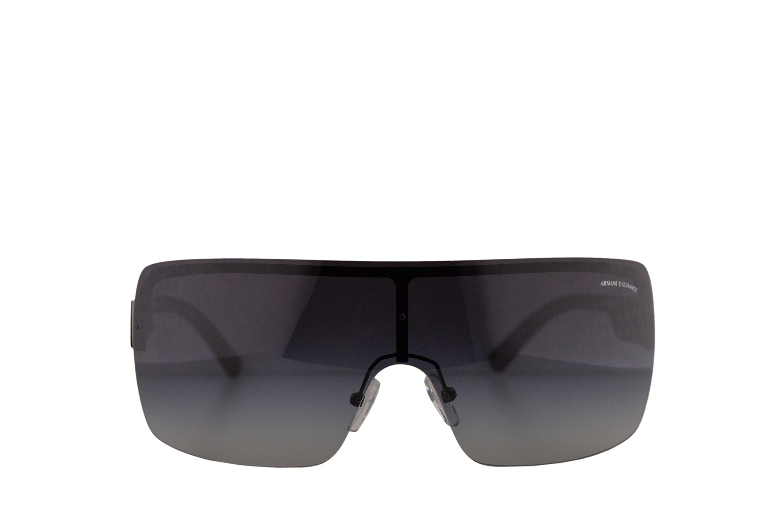 Armani Exchange AX2024S Sunglasses Matte Gunmetal w/Grey Gradient Lens 35mm 60888G AX2024 AX 2024 AX 2024S