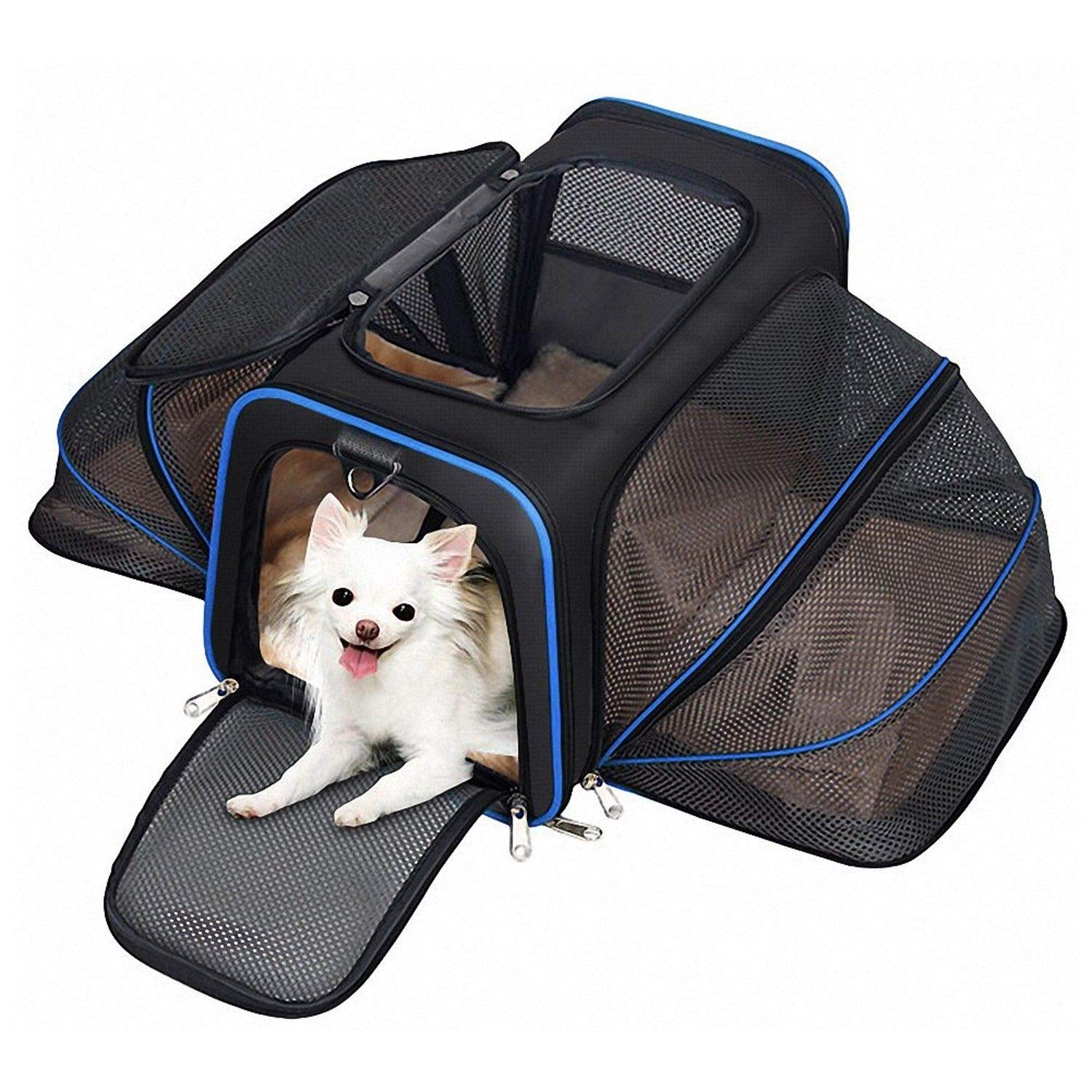 Generic  rrier for Dogs rier and Cats gs and Ca Most Airline Approve ats Soft Sided Expandable Pet Carrier st Airlin Soft Sided