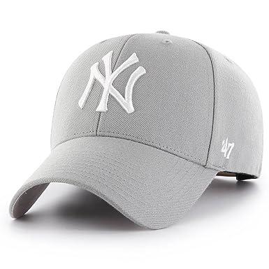 Gorra curva gris snapback de New York Yankees MLB MVP de 47 Brand - Gris, Talla única: Amazon.es: Ropa y accesorios