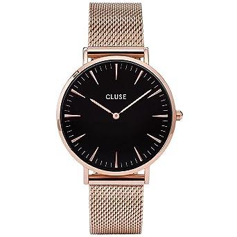 08add07bdb8 Amazon.com  CLUSE La Bohème Mesh Rose Gold Black CL18113 Women s Watch 38mm  Stainless Steel Strap Minimalistic Design Casual Dress Japanese Quartz  Elegant ...