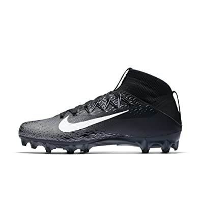 59d596f0be81 Nike Men s Vapor Untouchable 2 Football Cleat Black White Metallic  Silver Anthracite Size