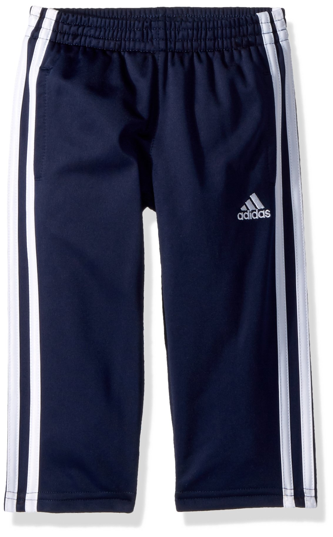 adidas Boys' Toddler Iconic Tricot Pant, Collegiate Navy, 4T