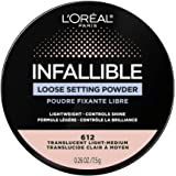 L'Oreal Paris Infallible Tinted Loose Setting Powders, Matte Finish, Lightweight, No White Cast, 2 Shades From Light To Deep,