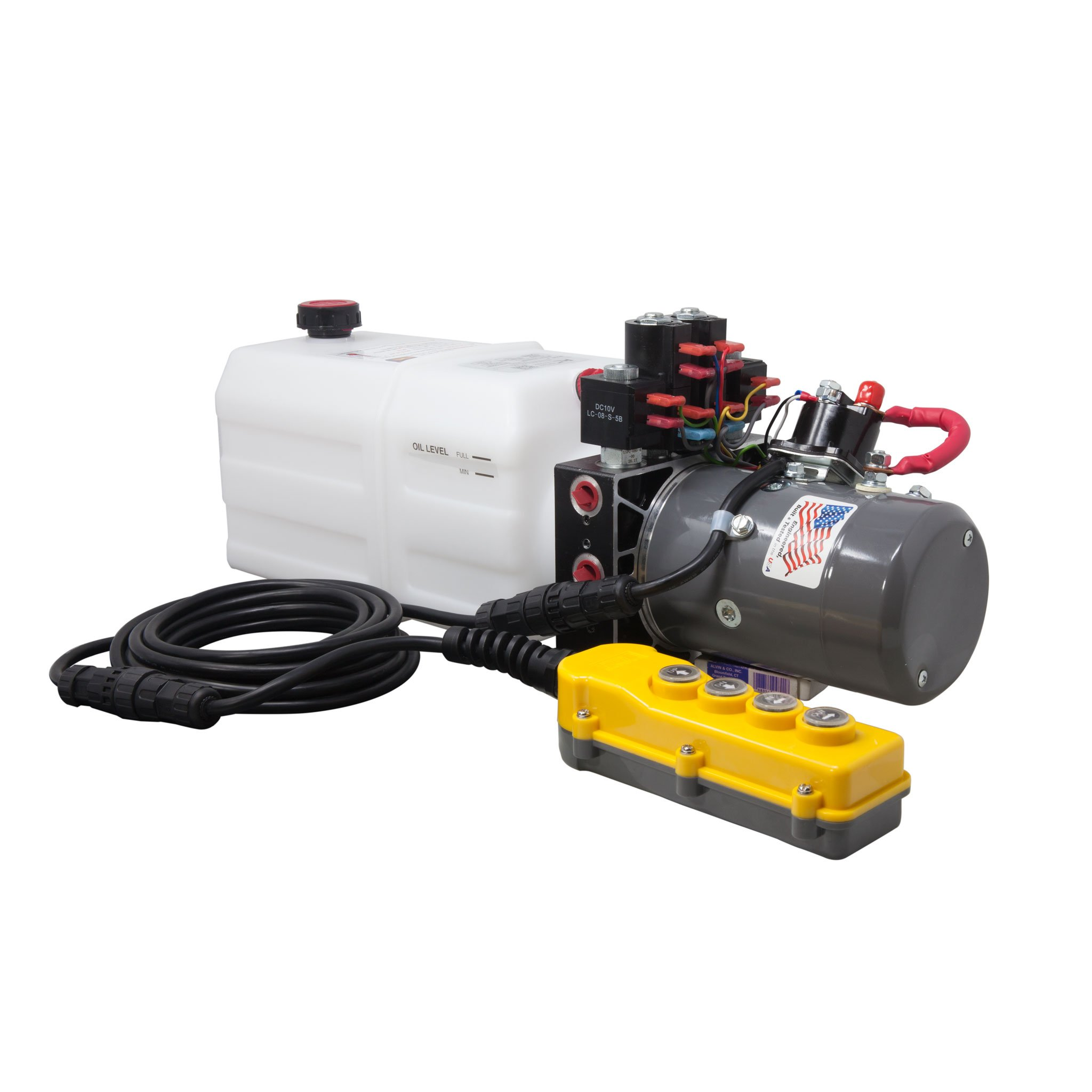 KTI Dual Double Acting 12V Hydraulic Pump - 6 Quart