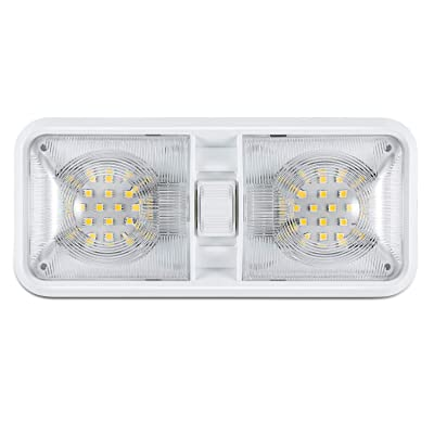 Kohree 12V Led RV Ceiling Dome Light RV Interior Lighting for Trailer Camper with Switch, White, 640 Lumens: Automotive