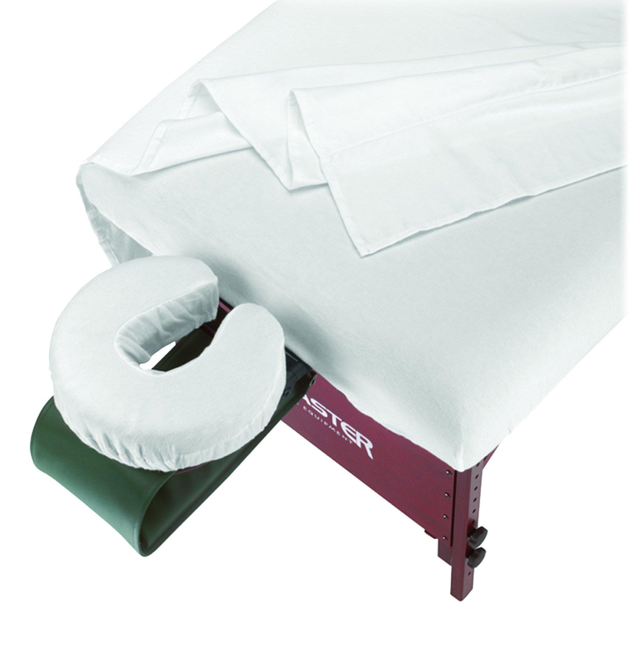 Master Massage 3-Piece Flannel Sheet Set, Off White