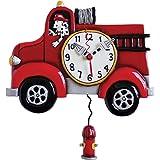 Allen Designs Big Red Firetruck Clock