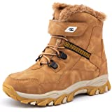 UBFEN Boys Snow Boots Kids Waterproof Boots Winter Boots Fur Lined Boots