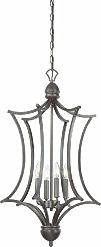Thomas Lighting SL893622 Triton Collection 4 Light Pendant, Sable Bronze