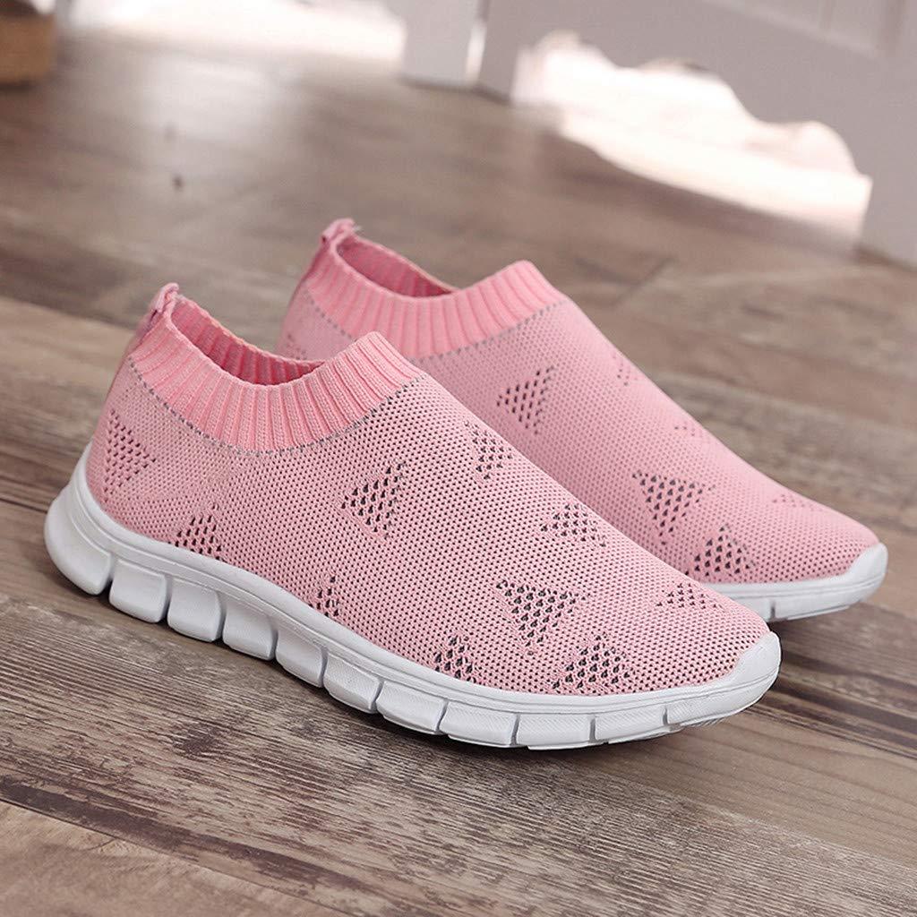 PAOLIAN - Zapatillas de Malla para Mujer Rosa Rosa 42: Amazon.es ...