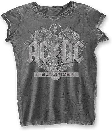 AC/DC Rock Band Premium - Camiseta para mujer, diseño vintage, color negro: Amazon.es: Ropa y accesorios