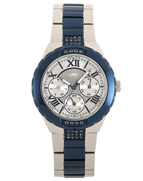bff5f5213d28 Image Unavailable. Image not available for. Colour  Guess Analog Silver  Dial Women s Watch-W0413L1