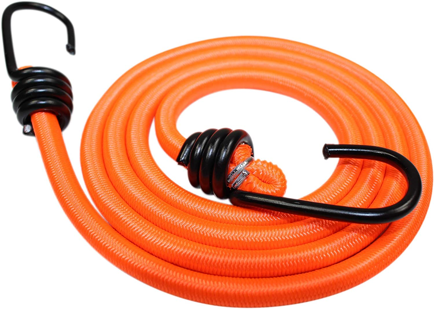 """SGT KNOTS Marine Grade Bungee Cord with Hooks - Heavy Duty Straps for Bikes, Tie Downs, Camping & Cars (40"""", NeonOrange)"""
