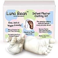 Luna Bean Baby Keepsake Hand Casting Kit - Plaster Hand Mold Casting Kit for Infant Hand & Foot Mold - Baby Casting Kit…