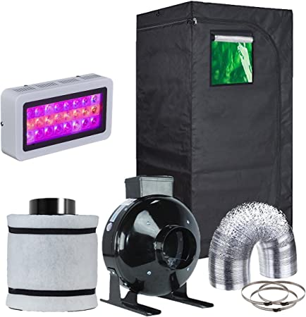 FILTER DUCTING GROW TENT KIT 1.2M SALE PRICE 600W DIMMABLE DIGITAL GROW LIGHT