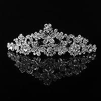 USport Crystal Rhinestone Butterfly Headband Tiara for Wedding Bridal Prom