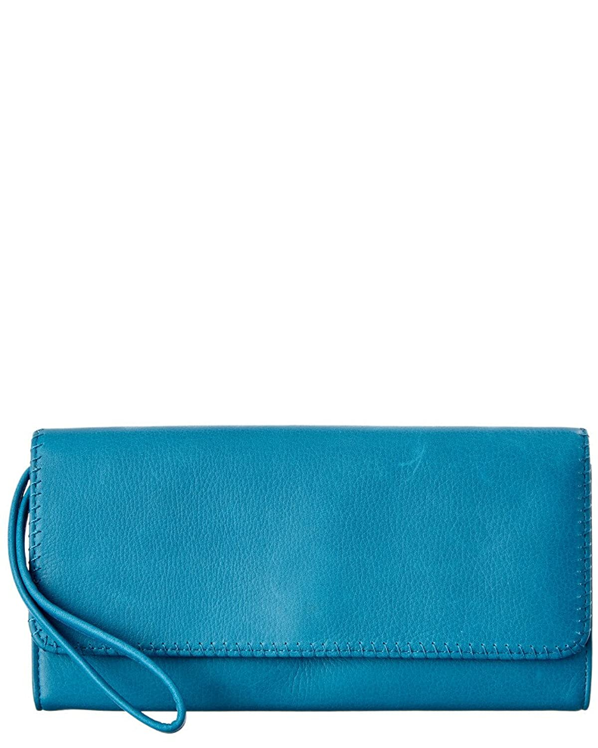 Hobo Era Leather Wristlet Clutch, Blue