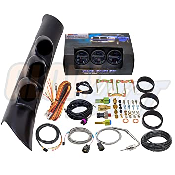 71rx3wHWwdL._SY355_ amazon com glowshift 1998 2002 dodge ram diesel package w glowshift boost gauge wiring diagram at metegol.co