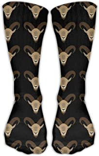 Hipiyoled Goat Head Repeat Unisex Novelty Crew Socks Ankle Dress Socks Fits Shoe