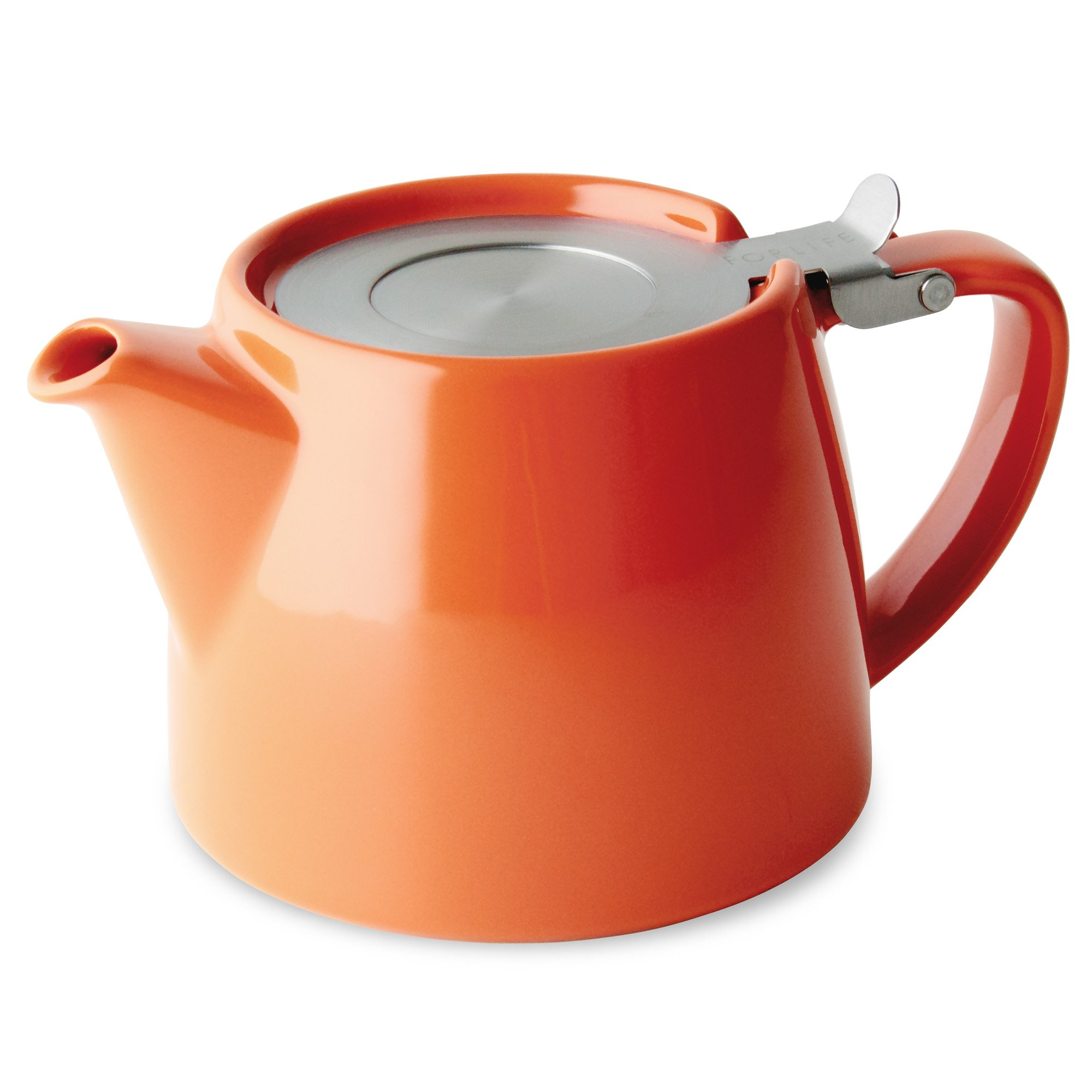 FORLIFE Stump Teapot with SLS Lid and Infuser, 18-Ounce, Carrot by FORLIFE