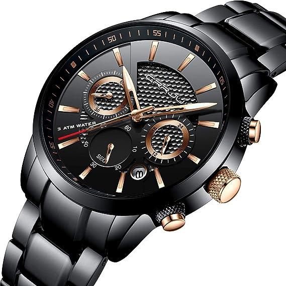 Amazon.com: CrRJU - Reloj de pulsera para hombre con ...