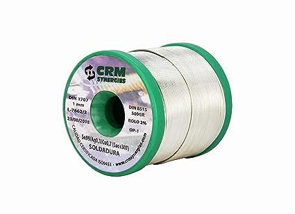 Hilo de soldar estaño plata cobre CRM Sn99/Ag0,3/Cu0,7