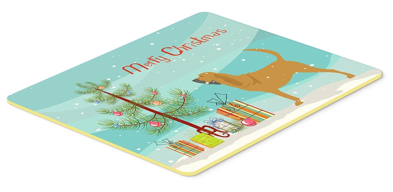 Caroline 's Treasures Bloodhound Merryクリスマスツリーキッチンやバスマット24 x 36 bb2902jcmt、24hx36 W、マルチカラー   B01LXFPXJL