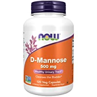 NOW Supplements, D-Mannose 500 mg, Non-GMO Project Verified, Healthy Urinary Tract...