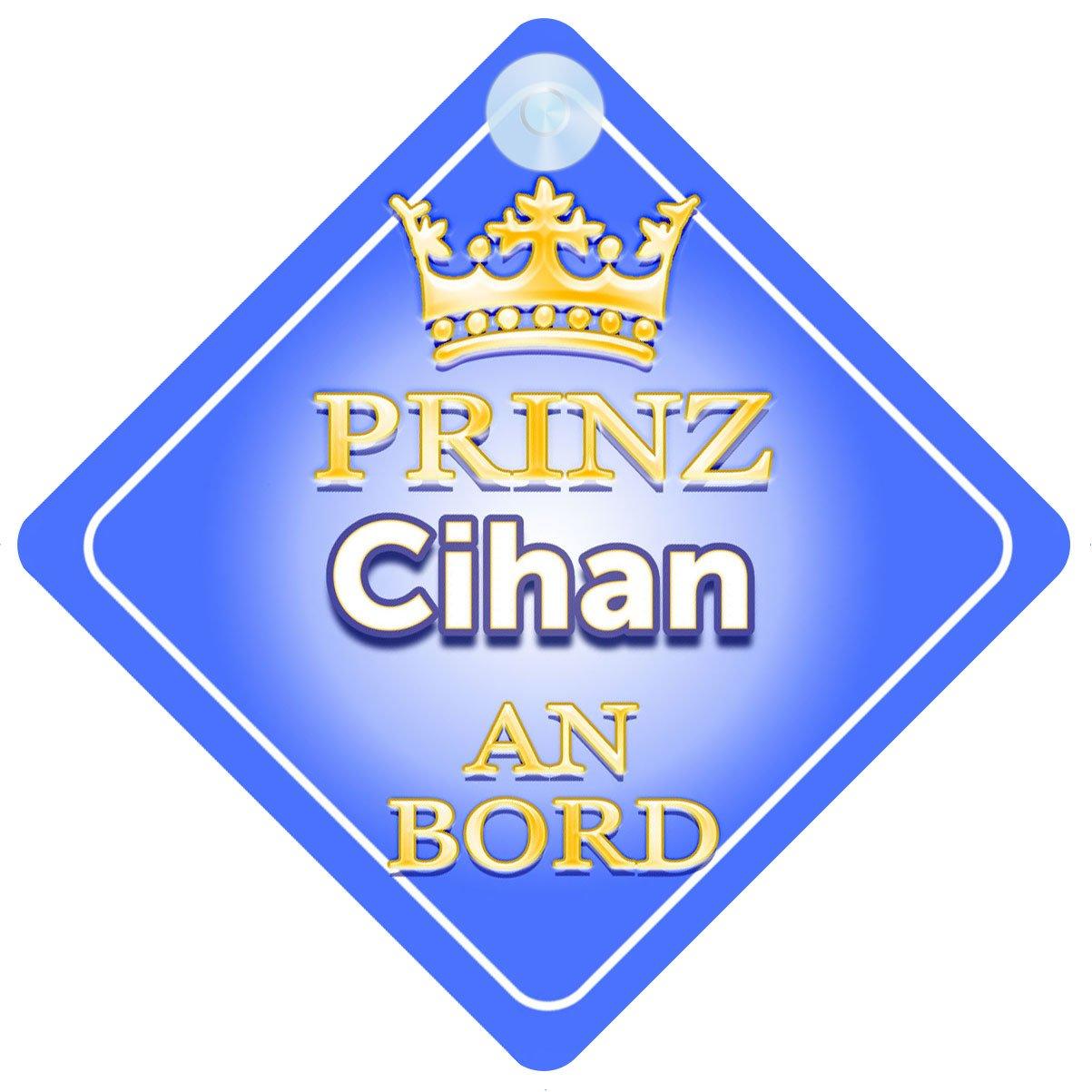Baby on Board Pr/äsentieren Kind Geschenk Autoschild /… Prinz Cihan An Bord mit Krone Personalisierte Autokennzeichen Neues Baby Junge