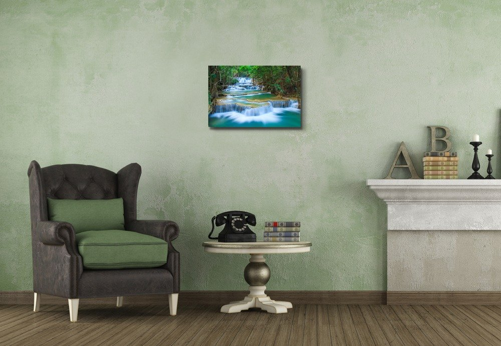 Deep Forest Waterfall in Thailand - Canvas Art Wall Art - 16