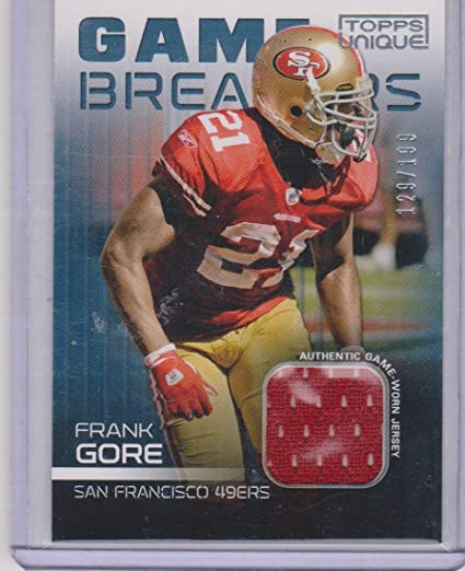 Image Unavailable. Image not available for. Color  2009 Topps Unique Frank  Gore 49ers ... b3ffb0b76