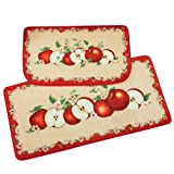 Collections Etc Apple Orchard Cushion Rugs with Red
