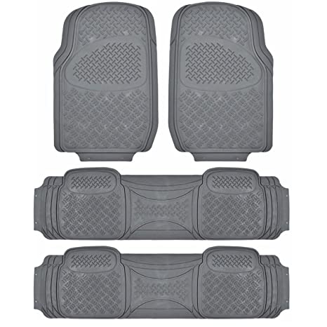 Suv Floor Mats >> Amazon Com Bdk Heavy Duty Van Suv Rubber Floor Mats 4 Pieces 3